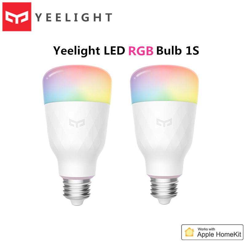 2020 Yeelight LED Bulb 1S 8 5W RBGW AC100-240V E27 800lm Lumens Smart WiFi Light Bulbs Apple Homekit Remote Control