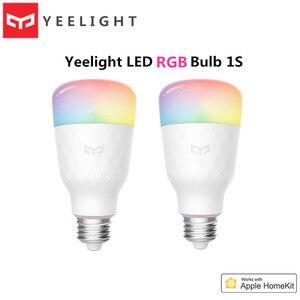 Image 1 - 2020 yeelight led 電球 1 s 8.5 ワット rbgw AC100 240V E27 800lm ルーメンスマート無線 lan 電球アップル homekit リモート制御