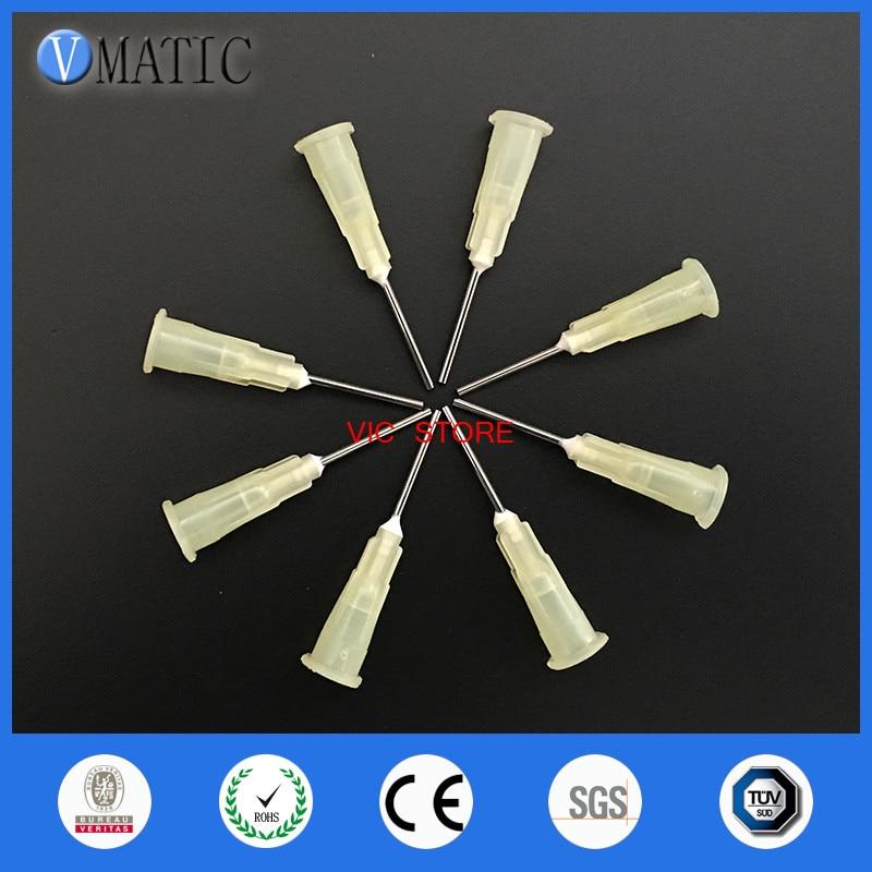Free Shipping 100Pcs  0.5'' 19G Quality Pinhead For Glue Dispensing Machine Syringe Needle Glue Dispenser Needle Tip 1/2 Inch