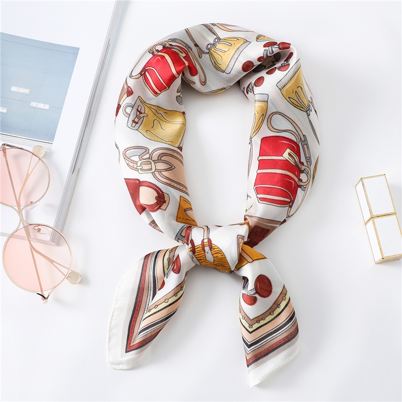 New Silk Scarf 70x70cm Square Scarves Luxury Brand Designer Neck Scarfs Gift For Girlfriend Lady Shawls Wrap 2020 Spring Summer