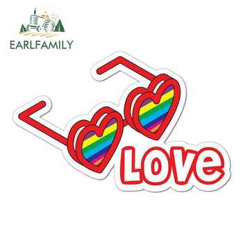 EARLFAMILY 13cm x 8.4cm for Gay Rainbow Equality Vinyl car Stickers JDM Funny RV VAN DIY Fine Decal Scratch-proof Graphics image