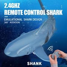 Infant Shining RC Shark Remote Control Simulation Shark 2.4G Radio Control Sharks Swimming Pool Toy Gift for Boy Robot Shark