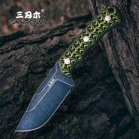 SANRENMU S738 Feste Messer 12C27 Klinge Outdoor Camping Utility Überleben Taktische Jagd Messer EDC Werkzeug Mit K Mantel