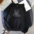 Толстовка Женская в стиле Харадзюку, милый Свободный пуловер с длинным рукавом и мультяшным принтом в стиле панк, Свитшот в стиле Харадзюку,...
