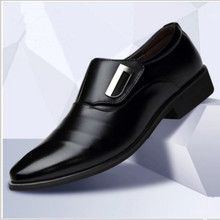 2019 New Men's Fashion British Style Pointed Toe Wedding Business Leather Formal