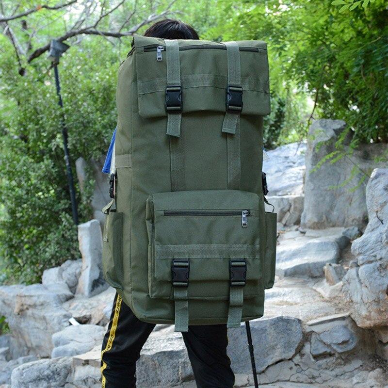 110L grand hommes randonnée sac à dos Camping sac à dos armée sac en plein air escalade Trekking alpinisme Mochila Blaso Sport XA860WA