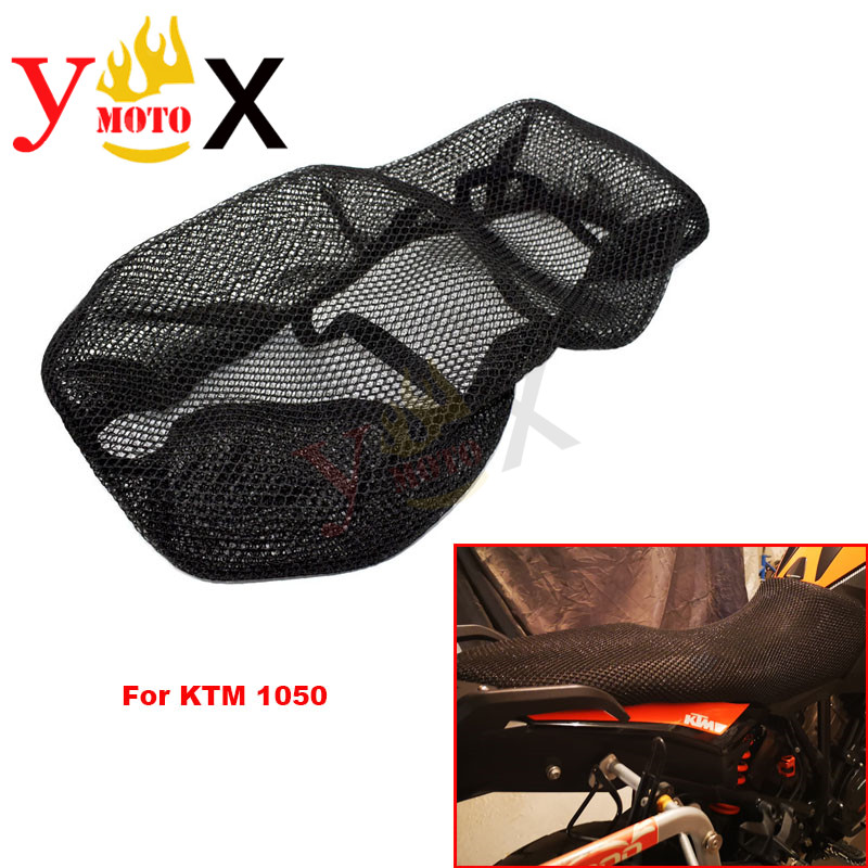 KTM1050 Motorcycle 3D Mesh Seat Cover Cushion Guard Pad Insulation Breathable Sun proof Net For KTM 1050 ADV Adventure Seat Covers     - title=