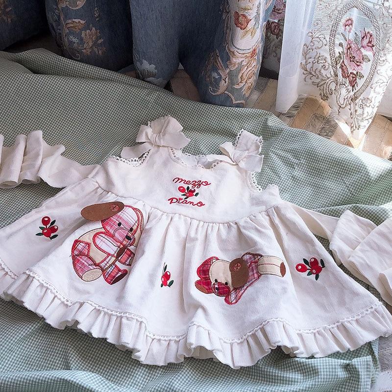 Japanese Sweet Dress Vest Corduroy Dress Girls Strap Dress Kids Dress For Girls Baby Girl Clothes Toddler Girl Winter Clothes