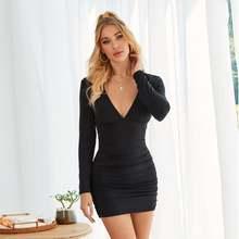 Женское облегающее мини платье для ночного клуба весна осень