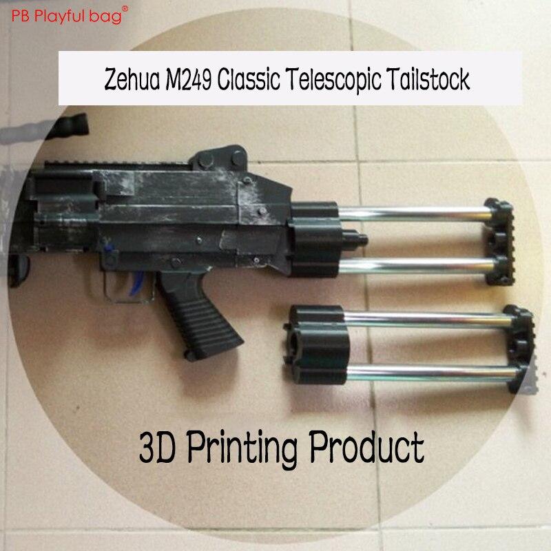 Playful Bag Zehua M249 Water Bullet Toy Gun Brace/buttstock Tactical CS DIY Accessories KD76
