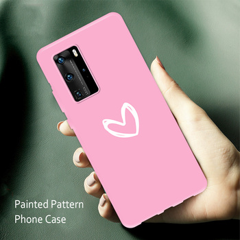 Silicone Phone Case for Huawei P30 Pro Lite Nova 5T Anti-Fall Case for Huawei P20 P40 Pro Lite Painted Back Smartphone Cover image