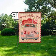 Домашний сад сердца 12,5x18 дюймов Декоративные Любовь День Святого Валентина Добро Пожаловать Сад Флаг Свадебная вечеринка подвесные украшения
