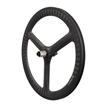 2020 Icanbikes new 3 spokes 24 inch 520 depth 48mm width 25mm carbon clincher wheels for BMX / kid balance / fording / road bike ican carbon road tt bike wheel 86mm clincher tubeless ready ud matte with ican paint rim 27mm width wheels page 8
