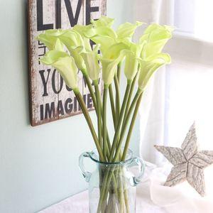 Image 3 - Lớn 67cm Thực Cảm Ứng Calla Lily Nhân Tạo Hoa Cưới Hoa Trang Trí Hoa Giả Tiệc Cưới, Phụ Kiện