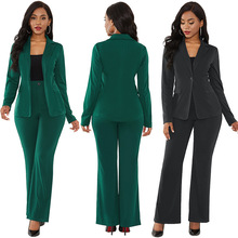 Africa Style Women's Suit Office Two Piece Set Long Sleeve Suit Pants 2 Piece Set Female Winter Two Pieces Sets Office Female