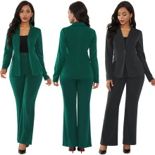 women's suit office two piece set long sleeve suit