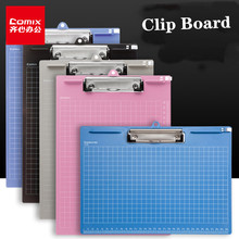 Comix Clip Board A4 Marble Clip File Folder Writing Pad Word Pad Document Holders Board Clamp School Office Stationery ezone cartoon a4 print clipboard kawaii clip paper writing pad candy color file folder school office stationery clip supplies
