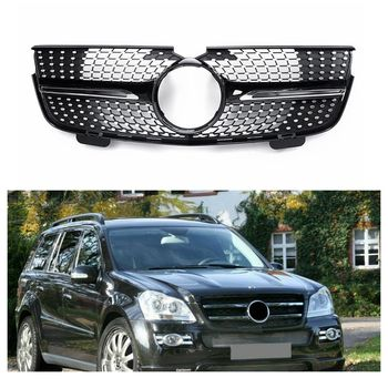 Front Grill Grille Silver Diamonds for Mercedes Benz X164 GL-Class 2007-2012