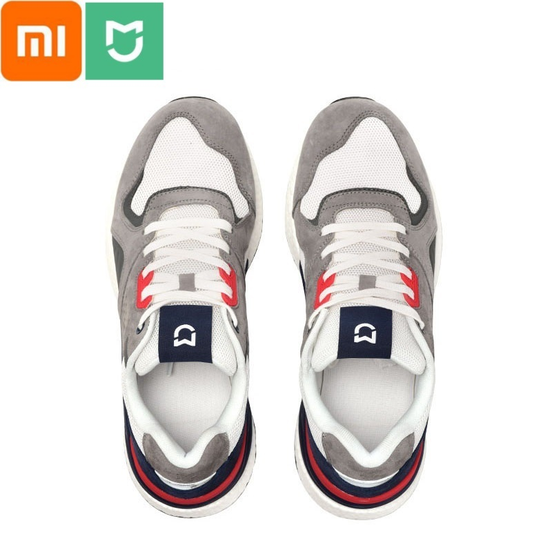 Xiaomi Mijia Retro Sneaker Pig Suede and Air Mesh Stitching Non-slip Genuine Leather Durable Breathable Shoe for Outdoor Sport