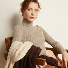 2019 gola alta feminina camisola de caxemira mulheres camisolas de inverno senhoras mulher camisola de tricô pullovers camisola feminina