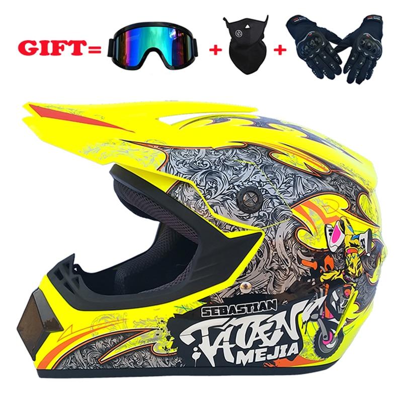 Super Light Helmet Motorcycle Racing Bicycle Helmet Downhill MTB DH Off Road Motocross Racing Helmet DOT With3 Gifts.
