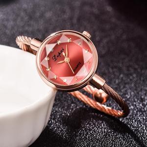 Image 5 - Lvpai Brand Women Watch Bracelet Gold Casual Small Watch Golden Geometric Glass Surface Colorful Wristwatch Ladies Quartz Clock