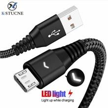 KSTUCNE Micro USB кабель 2A Быстрая зарядка кабель для передачи данных кабель для зарядного устройства Microusb для samsung S7 Xiaomi Android кабели для мобильных телефонов