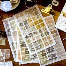 Yueguangxia европейские наклейки из бумаги васи для выходных