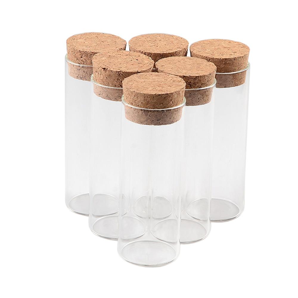 37x100mm 70ml Glass Bottles Vials Jars Test Tube With Cork Stopper Empty Jars Glass Transparent Clear Bottles Corks 24pcs