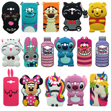 For Samsung Galaxy J1 2016 J120F 3D Cartoon Animal Soft Silicone Back Case Cover Skin Shell Express 3 J120A