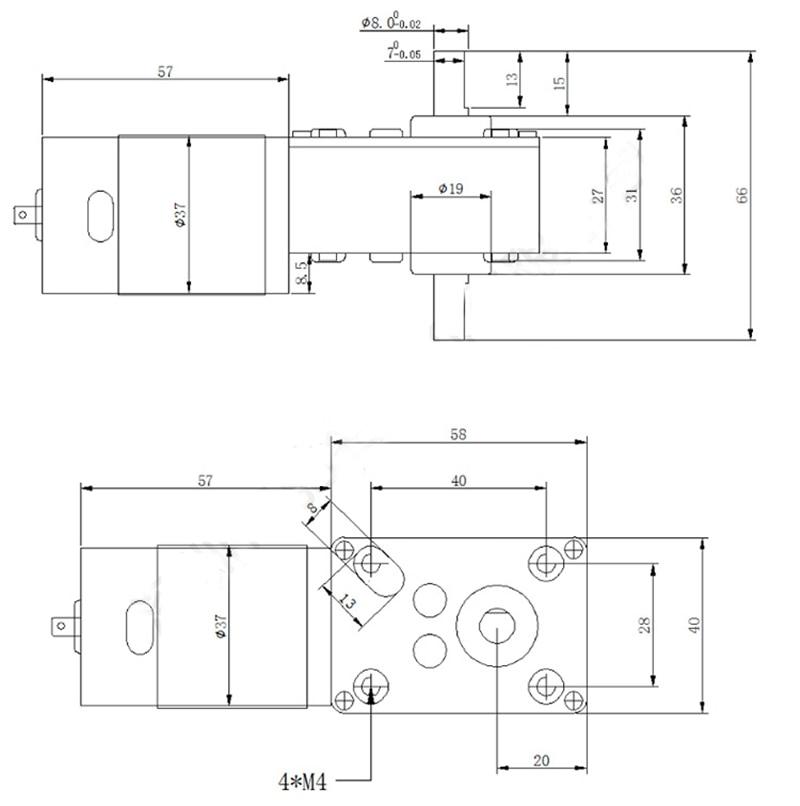12volt-24volt-Strong-Torque-DC-Deceleration-Worm-Gear-Motor-60kg-cm-For-Curtain-Vending-Advertisement-Machine (5)