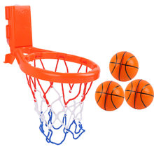 Toddler Bath Toys Kids Basketball Hoop Bathtub Water Play Set for Baby Girl Boy with 3 balls Two fixed ways(China)