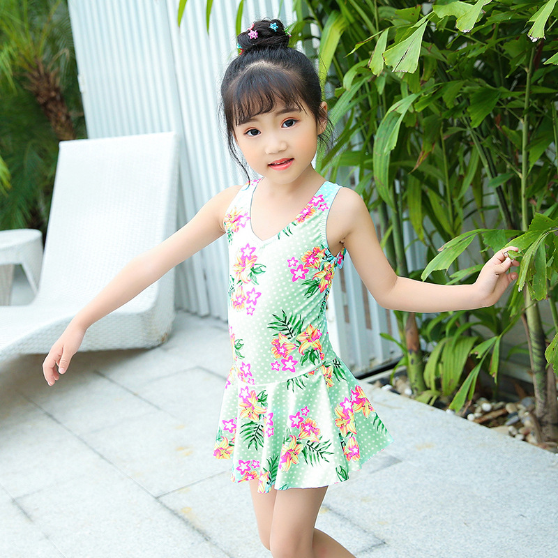 2018 South Korea New Style One-piece KID'S Swimwear Baby Girls GIRL'S Beautiful CHILDREN'S Swimsuit Swimming Pool Only