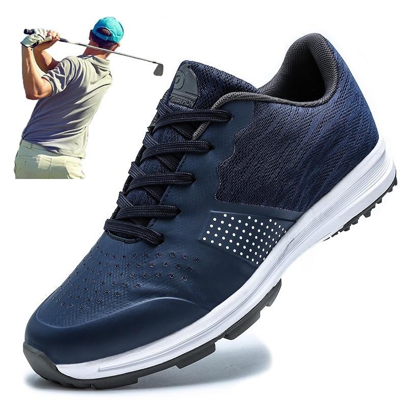 New Waterproof Golf Shoes Men Profeeeional Anti Slip Sport Mens Golf Sneakers Quality Big Size 39-48 Grass Walking Golfing Shoes