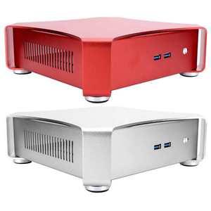 HTPC-Funda de Juegos de PC para ordenador de escritorio y Gaming, carcasa pequeña de aluminio USB 3,0 para ordenador de videojuegos X3