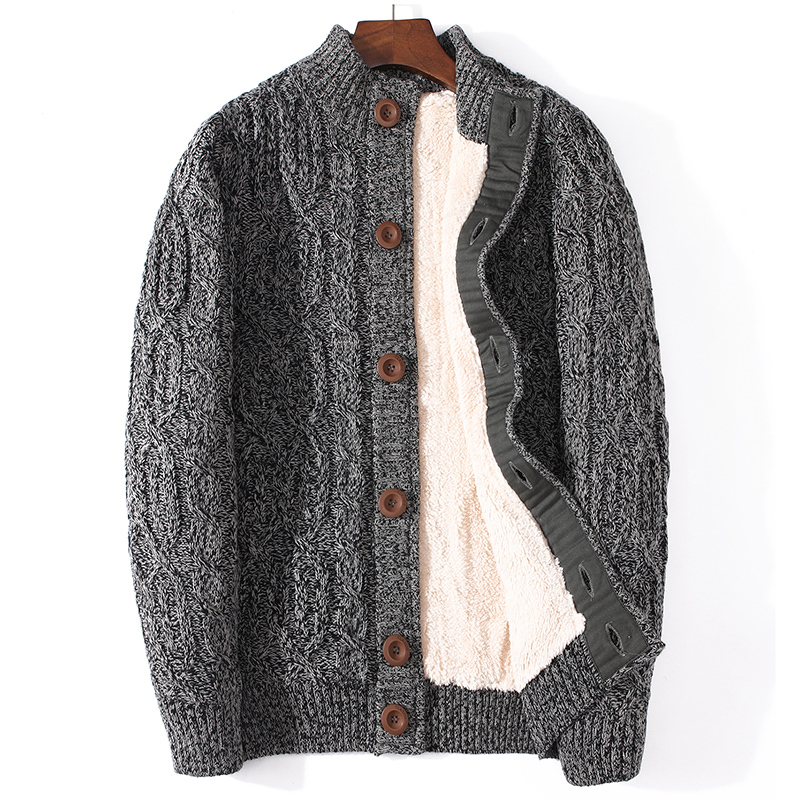 Plus Size Wool Sweater Winter Coat Men Clothes 2020 Knitted Fit Thick Warm Cardigan For Men Jumper Pull Homme Hiver SL237