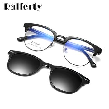 Ralferty ultralekki Ultem magnetyczne okulary przeciwsłoneczne osłona przed słońcem do samochodu klips polaryzacyjny na okulary przeciwsłoneczne 2 w 1 okulary korekcyjne Z918 tanie i dobre opinie CN (pochodzenie) Cat eye Dla dorosłych ALLOY NONE Spolaryzowane Anti-odblaskowe UV400 47mm 50mm HD Polarized UV400 Lens