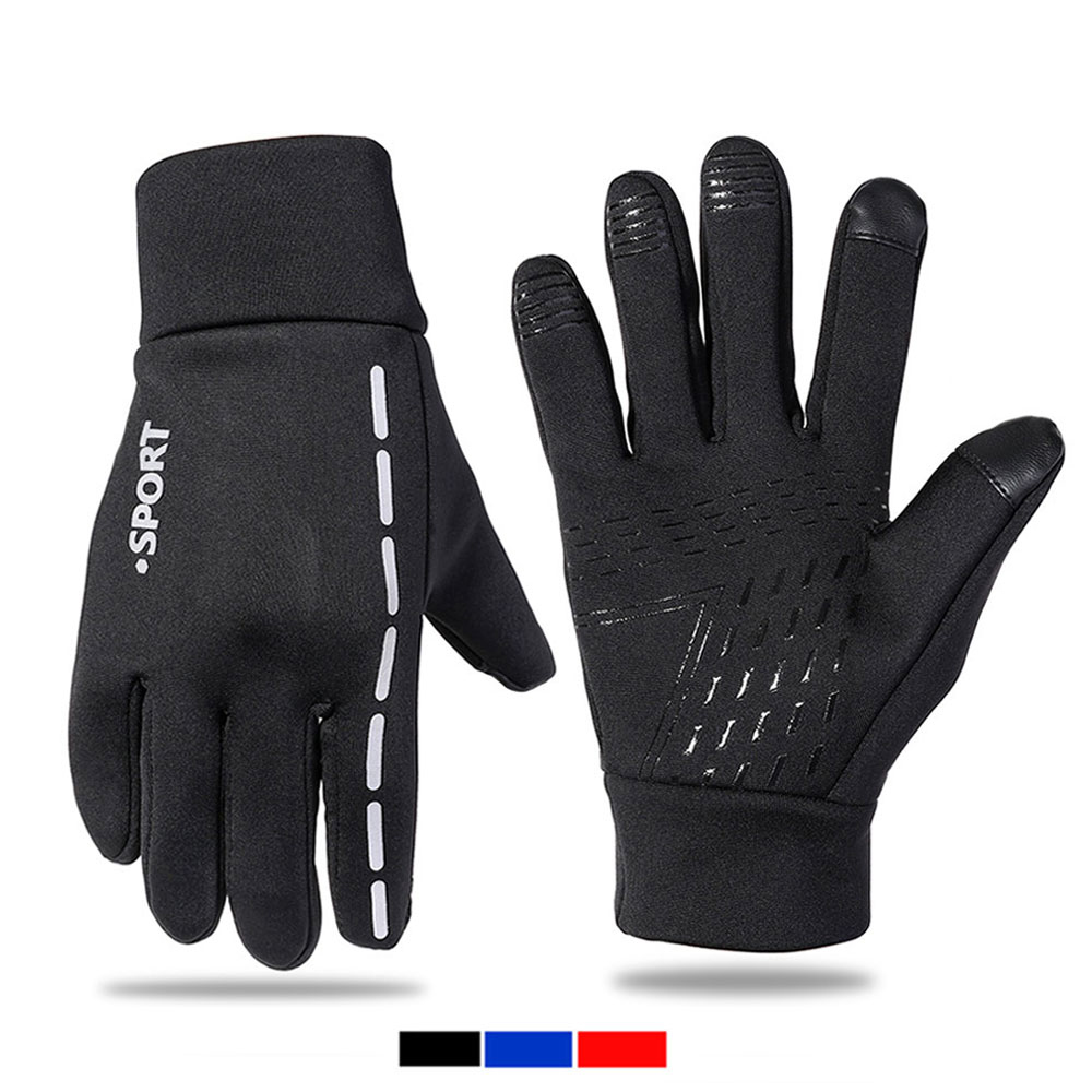Quaslover Anti Slip Windproof Gloves For Men Winter Warm Touchscreen Glove Breathable Tactico Windstopers Gloves For Cycling