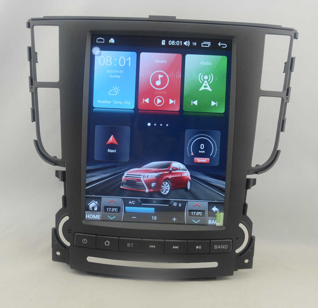 Wekeao Vertical Screen Tesla Style 9.7'' 1 Din Android 8.0