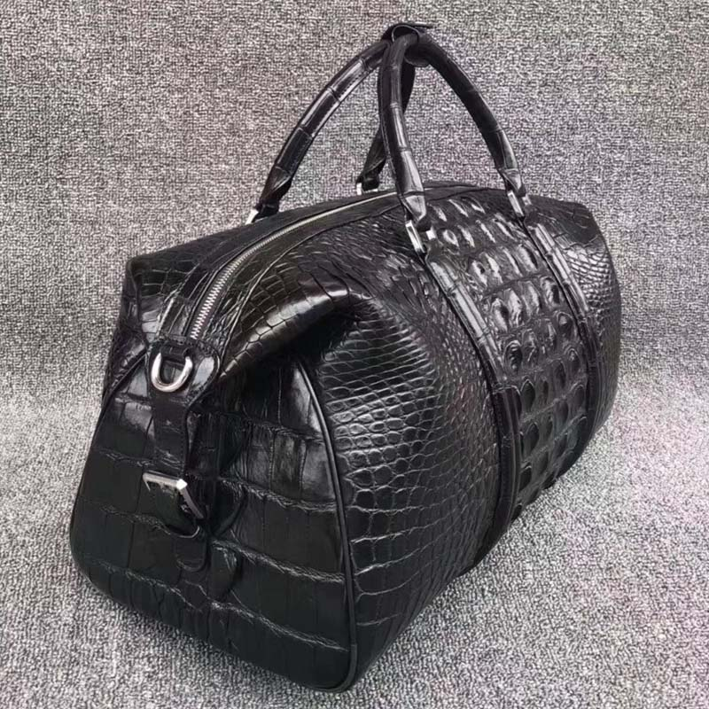 fanzunxing Luxury crocodile leather classic men's bag large size men and women carry business and leisure travel bag men