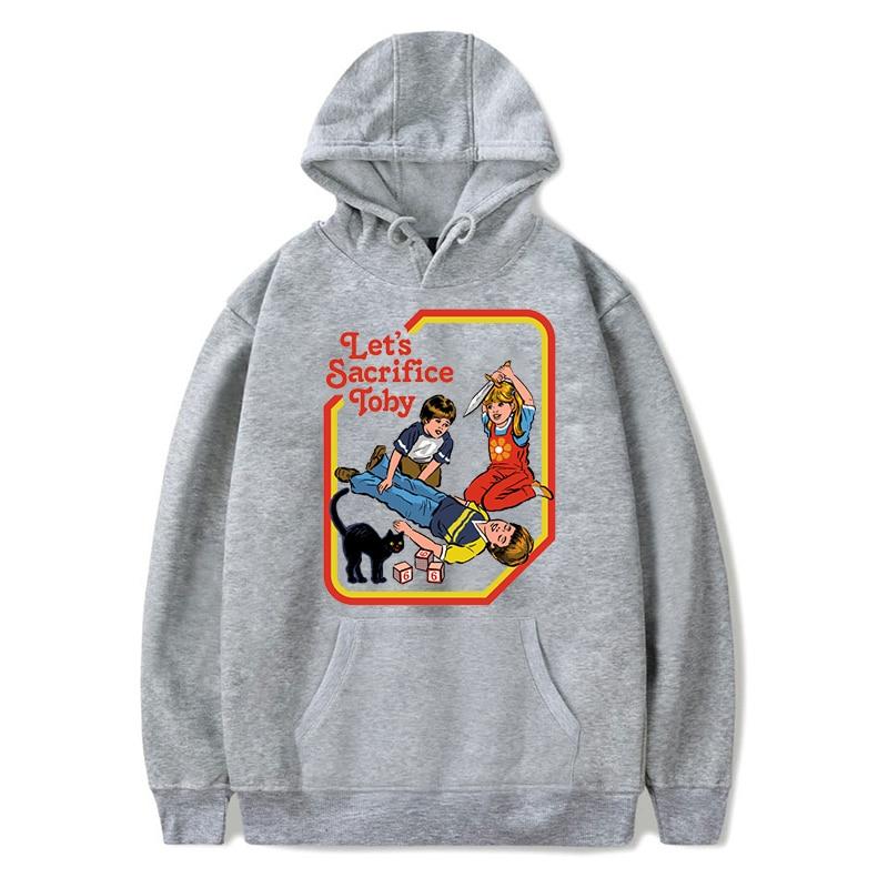 New Let's Sacrifice Toby Hoodies Harajuku Sweatshirts Hip Hop Streetwear Hoodie Men Womens Clothing Winter Clothes Harajuku Top