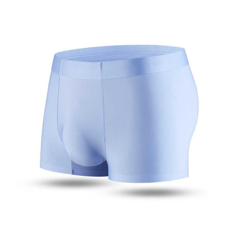 Bielizna męska płaskie spodnie jedwabne suche i wygodne męskie bielizna przewiewna wygodne dopasowanie Non Marking Men Boxer 2021 nowość