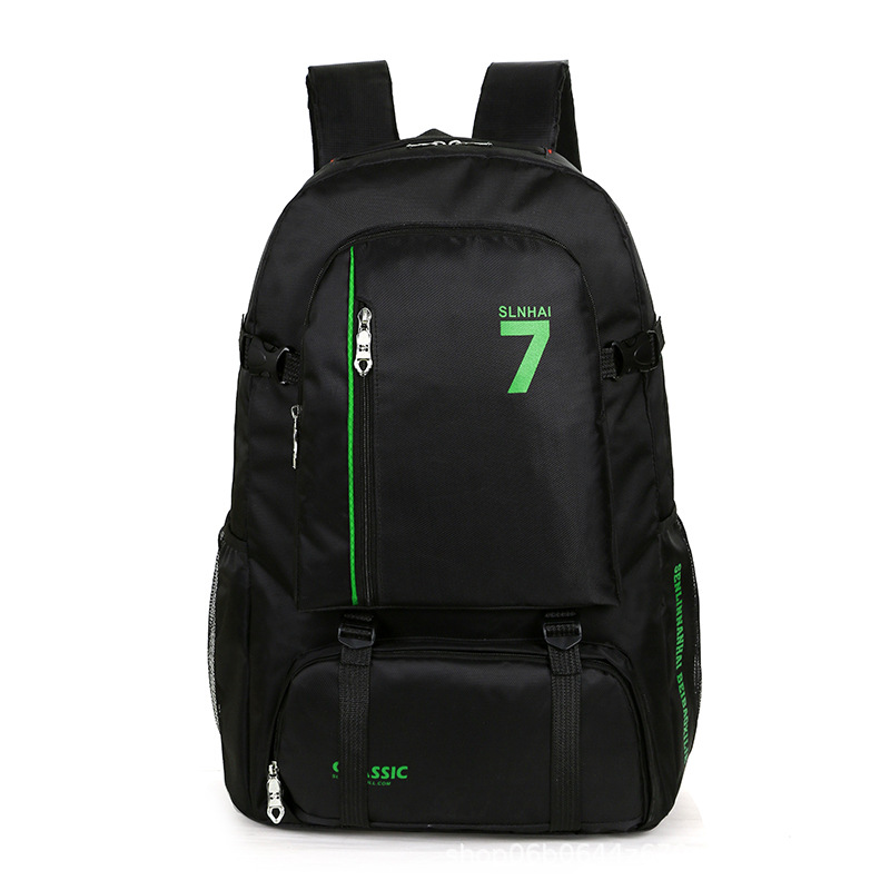 Large Capacity Outdoor Hiking Backpack Waterproof Wear-Resistant Oxford Cloth Bag