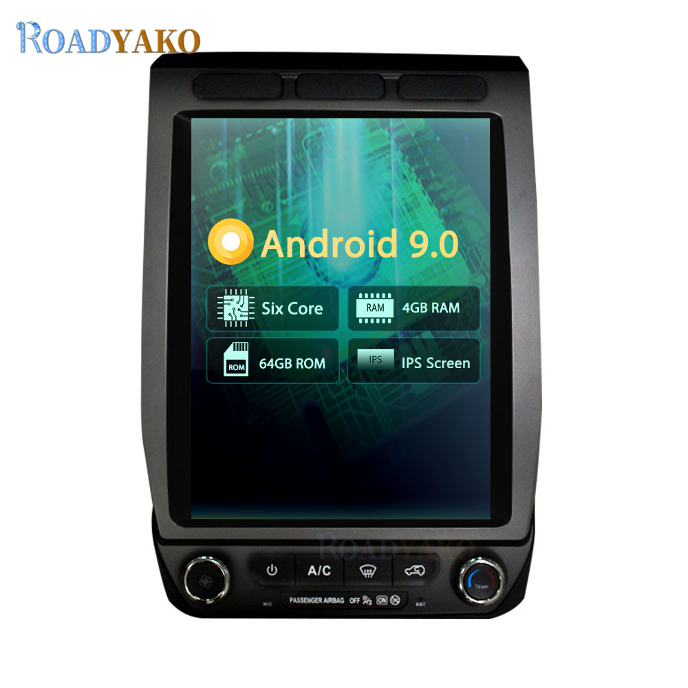 12.1inch Android 9.0 PX6 Car Radio GPS Navigation Player For Ford Raptor F150 2015 - Stereo Auto Car Multimedia system Autoradio