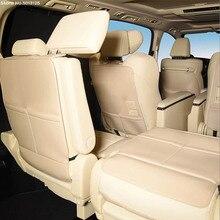 자동차 뒷좌석 시트 안티 킥 패드 첫 번째 두 번째 세 번째 좌석 커버 보호 매트 도요타 Alphard Vellfire 30 시리즈 2016 2020