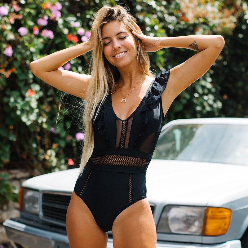 Новинка 2020, Цельный купальник, женский купальный костюм с открытой спиной, бикини, сексуальный купальник в стиле пэчворк, летняя пляжная оде...