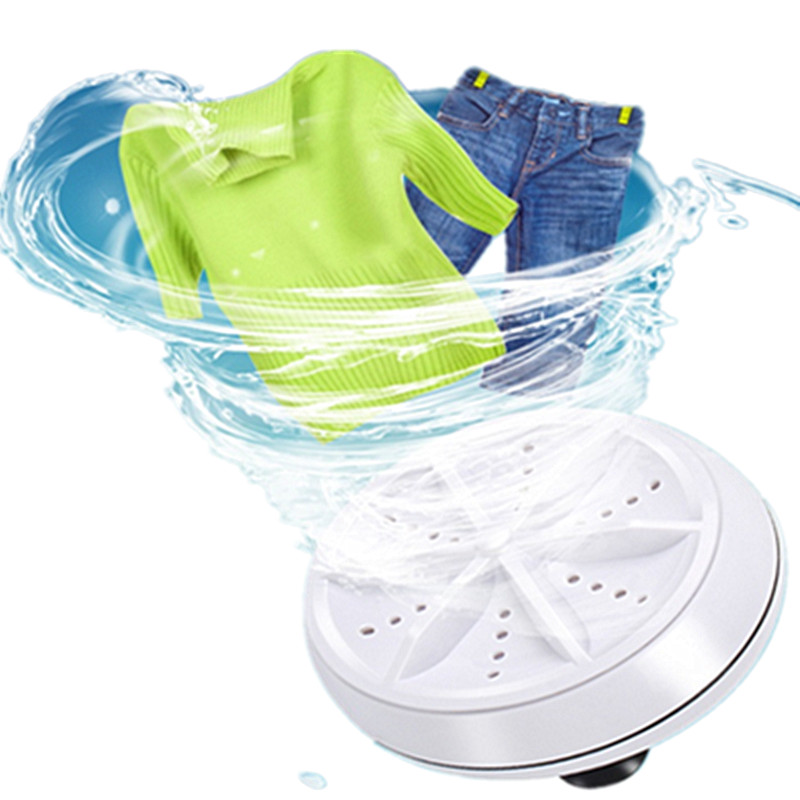 Portable Mini Washing Machine Easy Operation Personal Rotating Turbine Washer Suitable For Travel Home Business Trip