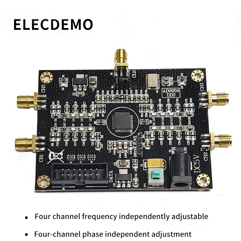 AD9959 Module RF signal source AD9959 signal generator Four channel DDS module Performance far exceeds AD9854-in Demo Board Accessories from Computer & Office