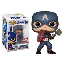 Funko pop marvel capitão américa #481 vinil figura de ação bonecas brinquedos