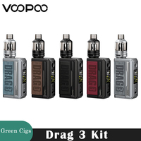 Original Voopoo arrastre 3 Kit 177W caja MOD Vape 5,5 ml TPP Pod cartucho TPP DM1 DM2 bobina cigarrillo electrónico vaporizador del DRAG 2